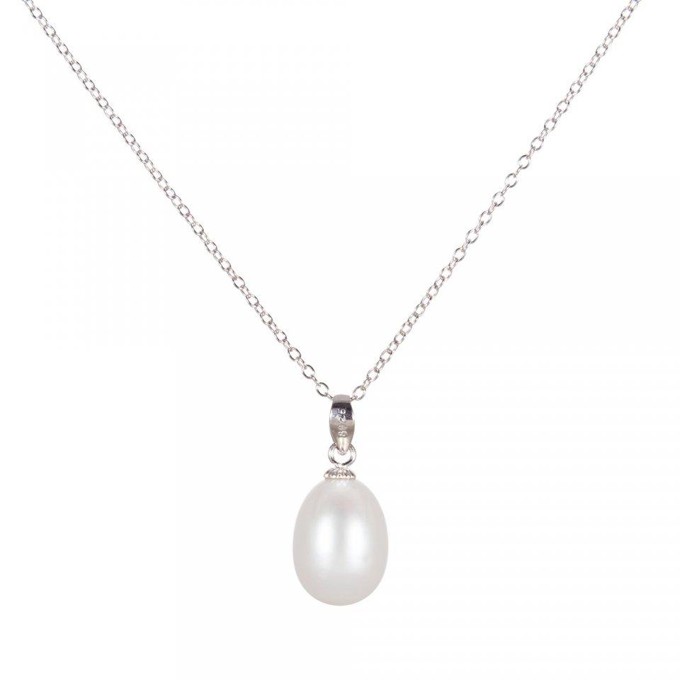 Řetízek s bílou perlou