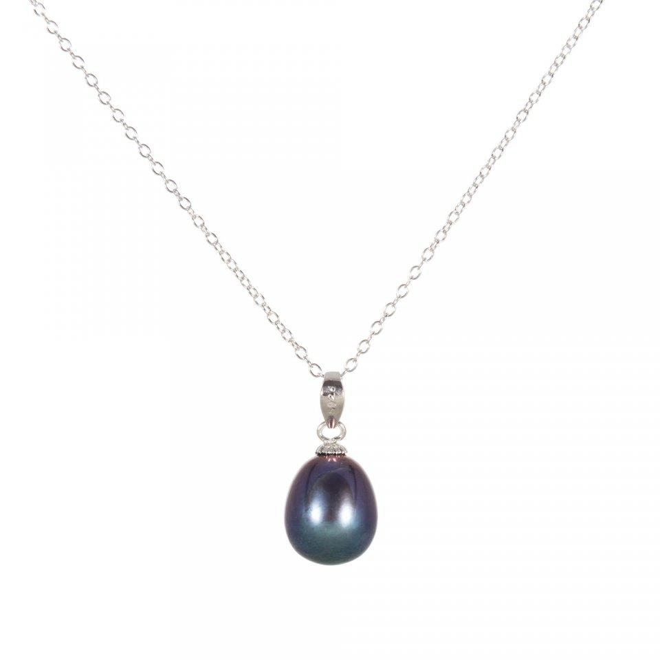 Řetízek s modrou perlou