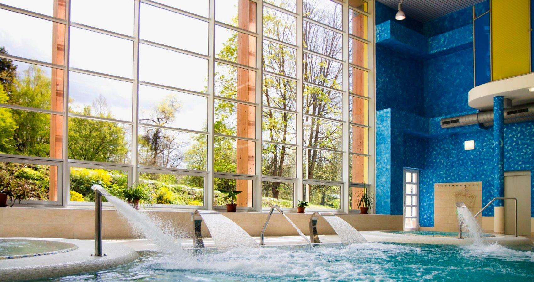 Bazén s protiproudy ve Wellnesscentru