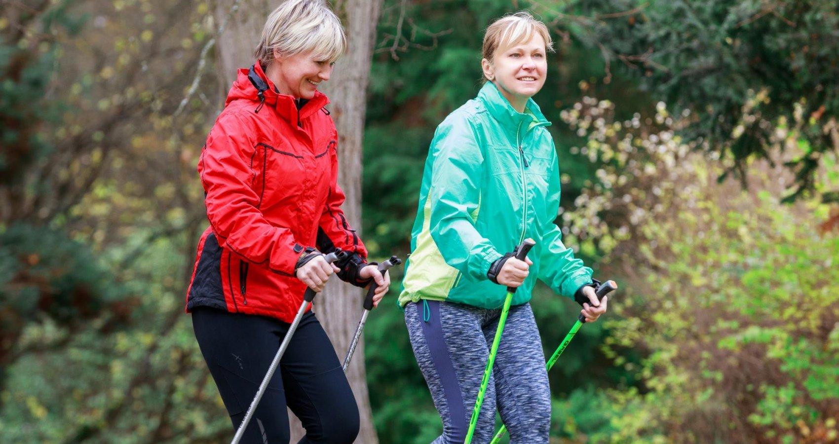 Nordic Walking v lázeňském parku