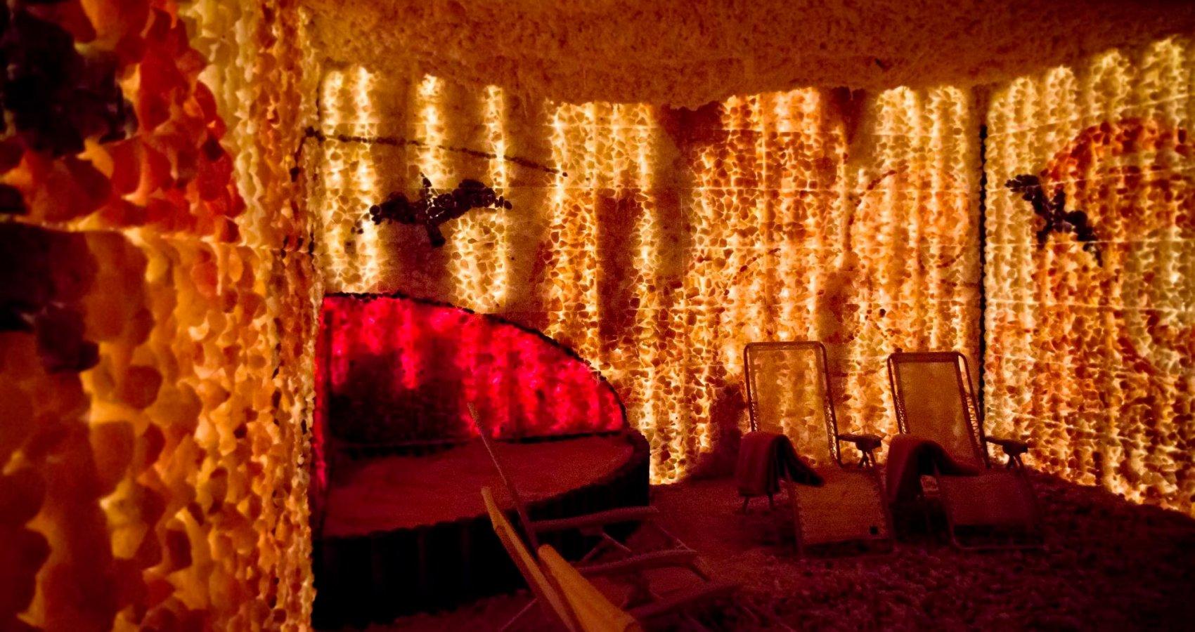 Solná jeskyně v lázeňském hotelu Prusík