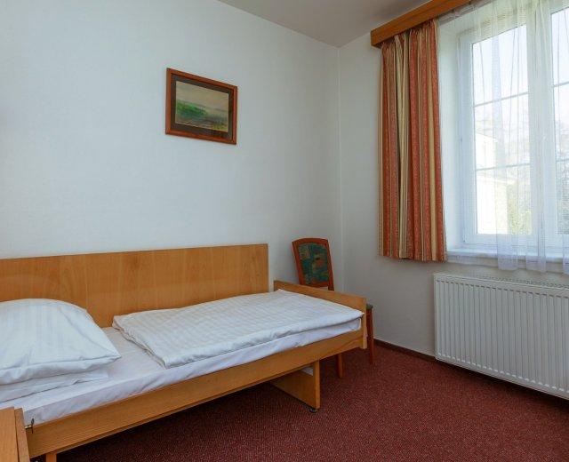 Jednolůžkový pokoj Economy v lázeňském hotelu Prusík