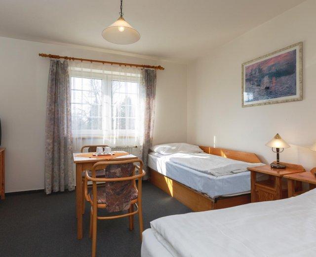 Dvoulůžkový pokoj Standard v lázeňském hotelu Jirásek